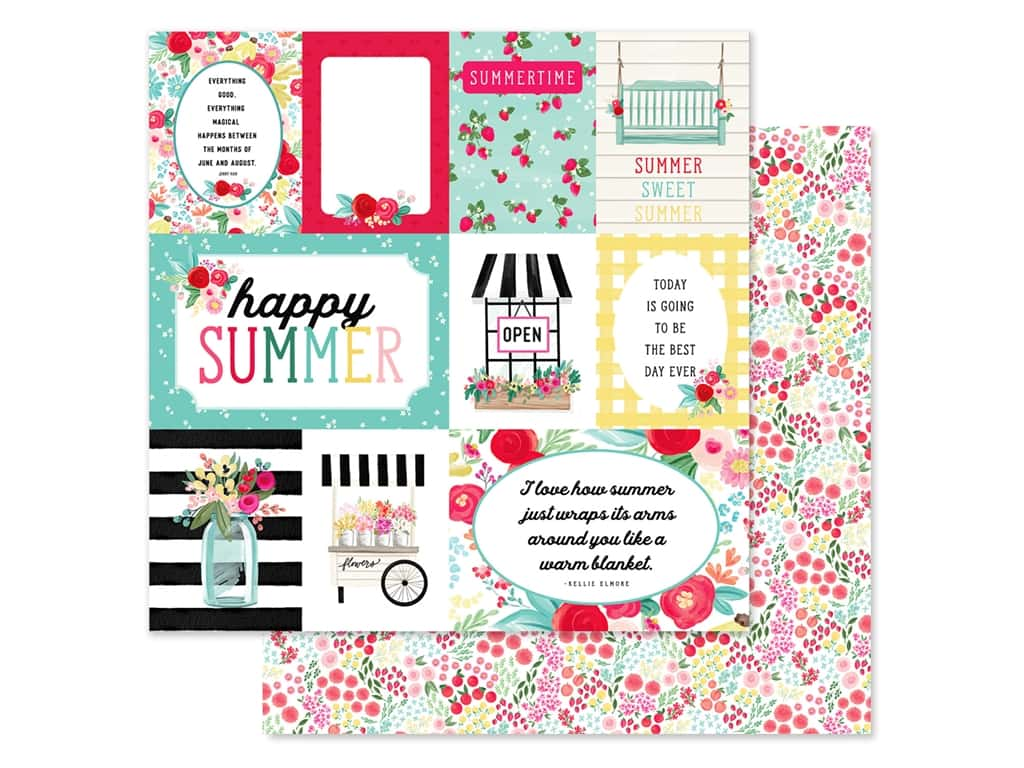 Carta Bella Collection Summer Market Paper 12 in. x 12 in. Journaling Cards (25 pieces)