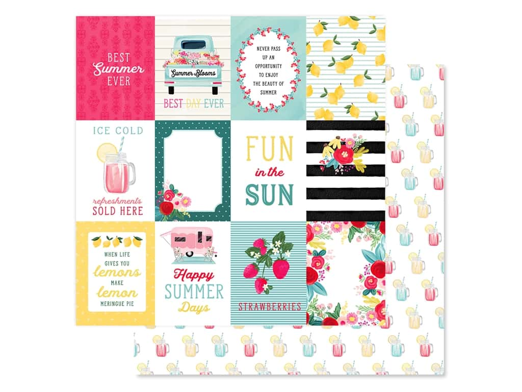 Carta Bella Collection Summer Market Paper 12 in. x 12 in. Journaling Cards 3 in. x 4 in. (25 pieces)