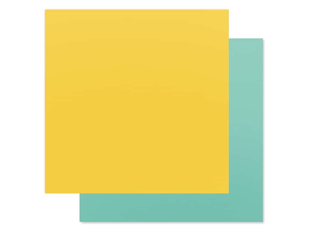 Carta Bella Collection Summer Market Paper 12 in. x 12 in. Yellow/Blue (25 pieces)