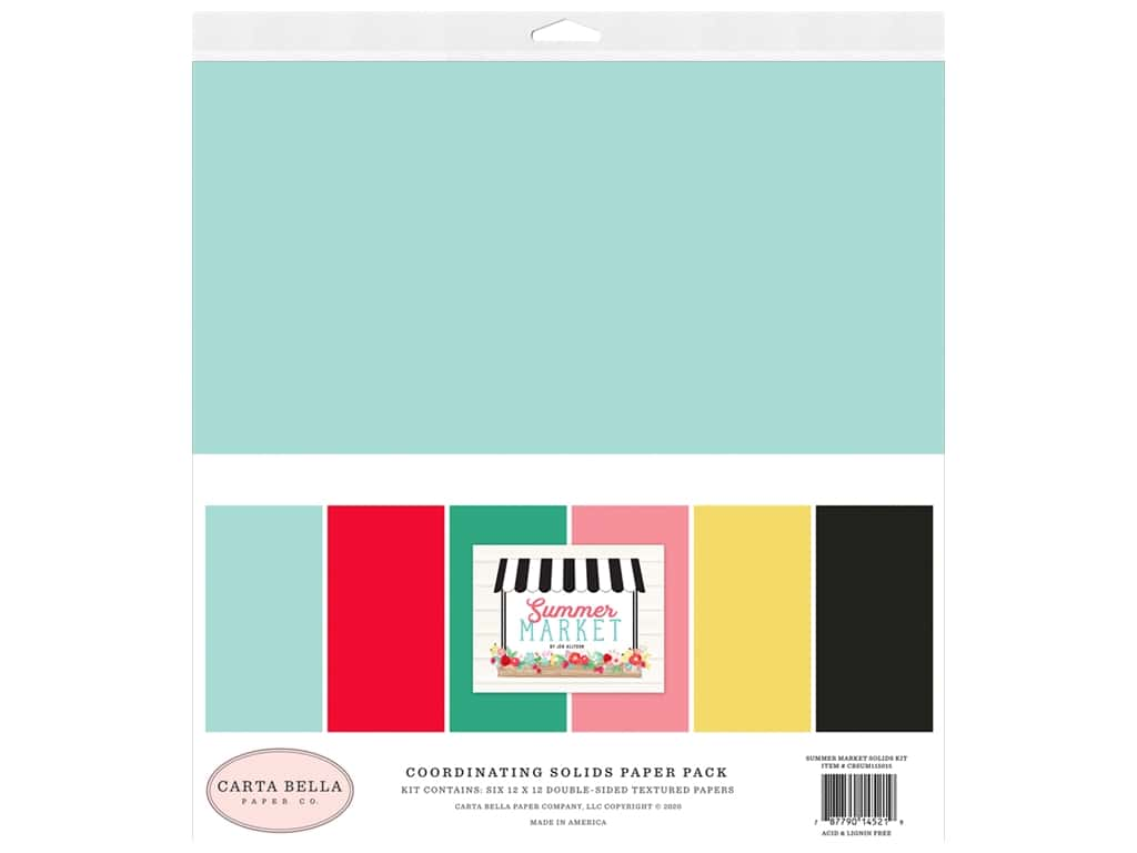 Carta Bella Collection Summer Market Solids Kit 12 in. x 12 in.