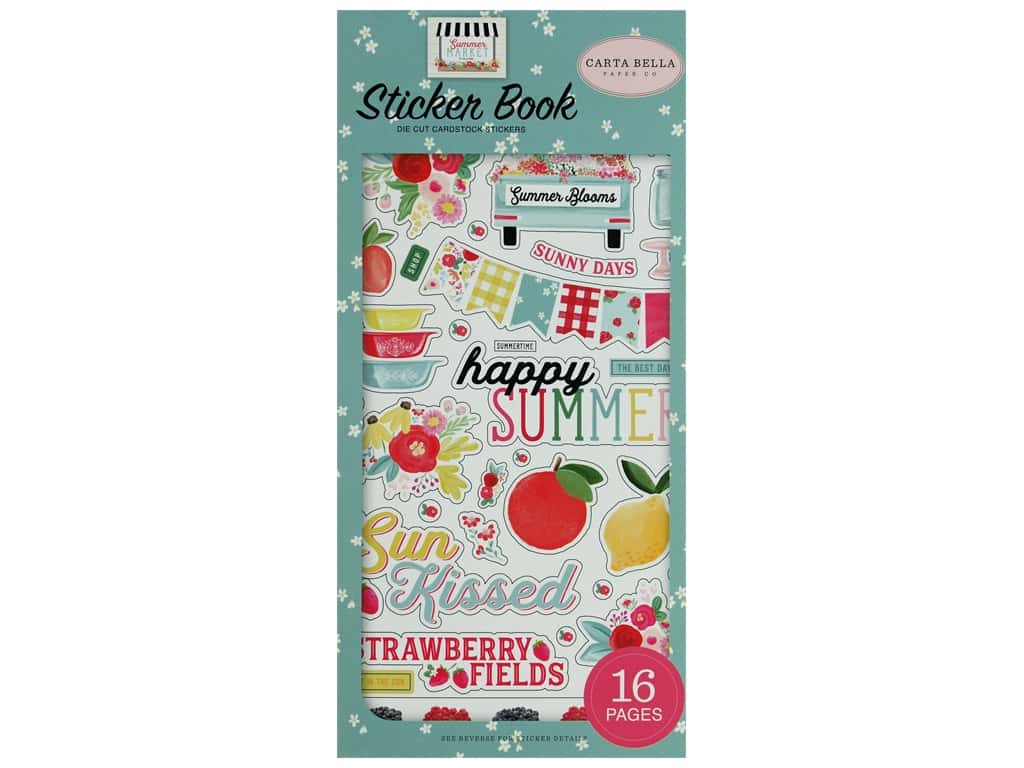 Carta Bella Collection Summer Market Sticker Book