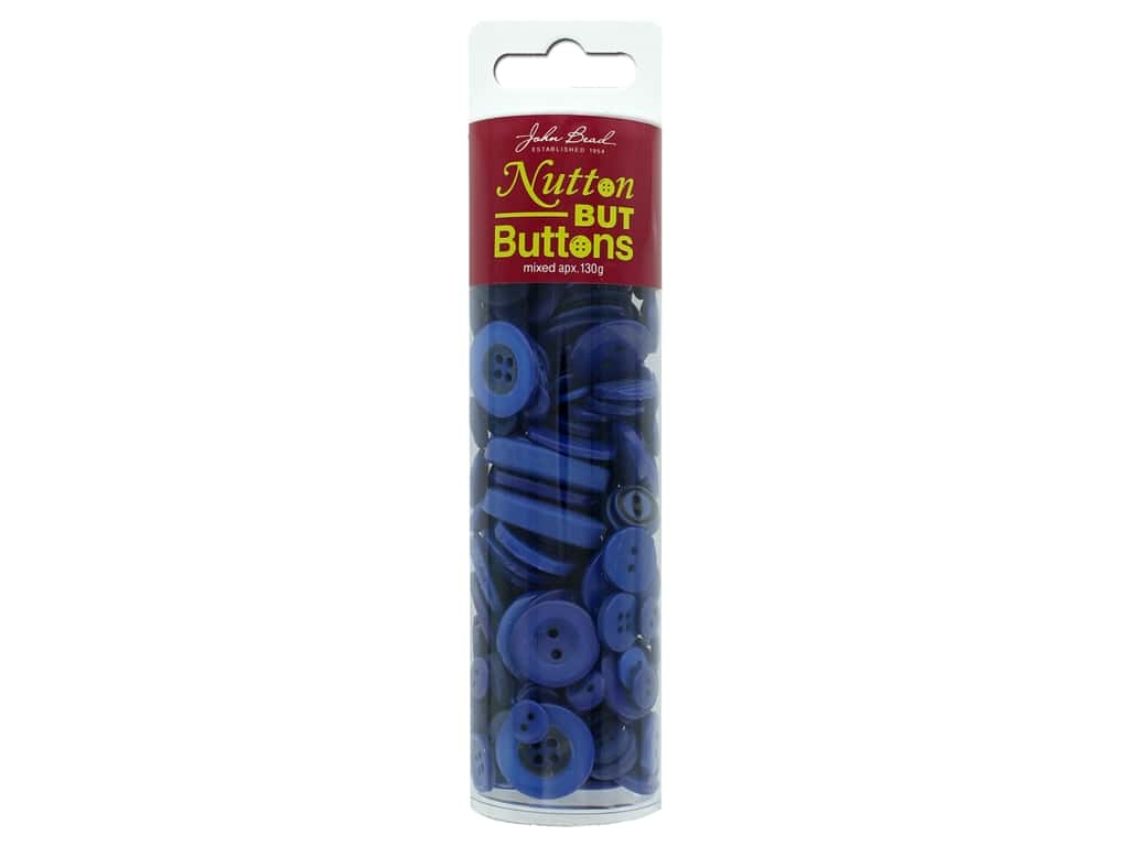 John Bead Nutton But Buttons Resin 130g Dark Blue