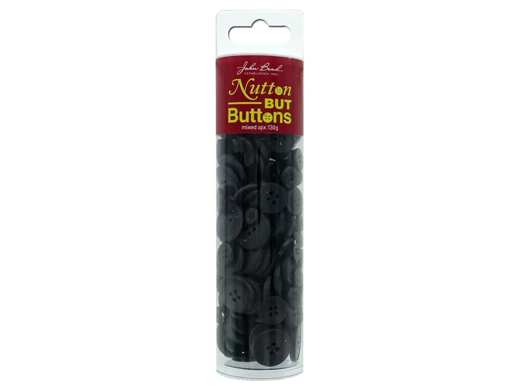 John Bead Nutton But Buttons Resin 130g Black