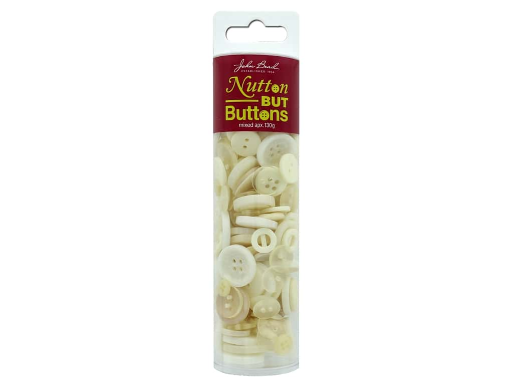 John Bead Nutton But Buttons Resin 130g Ivory