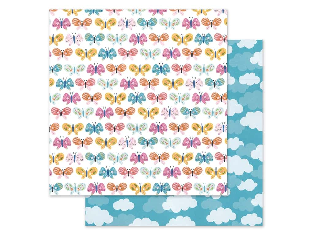 """Pebbles Collection Sun & Fun Paper 12""""x 12"""" Butterfly Love (25 pieces)"""