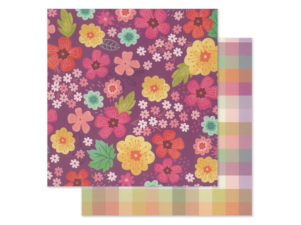 """Pink Paislee Collection Paige Evans Truly Grateful Paper 12""""x 12"""" Paper 2 (25 pieces)"""