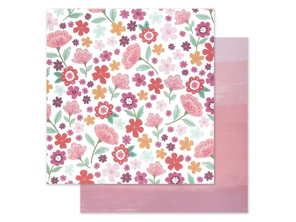"""Pink Paislee Collection Paige Evans Truly Grateful Paper 12""""x 12"""" Paper 15 (25 pieces)"""