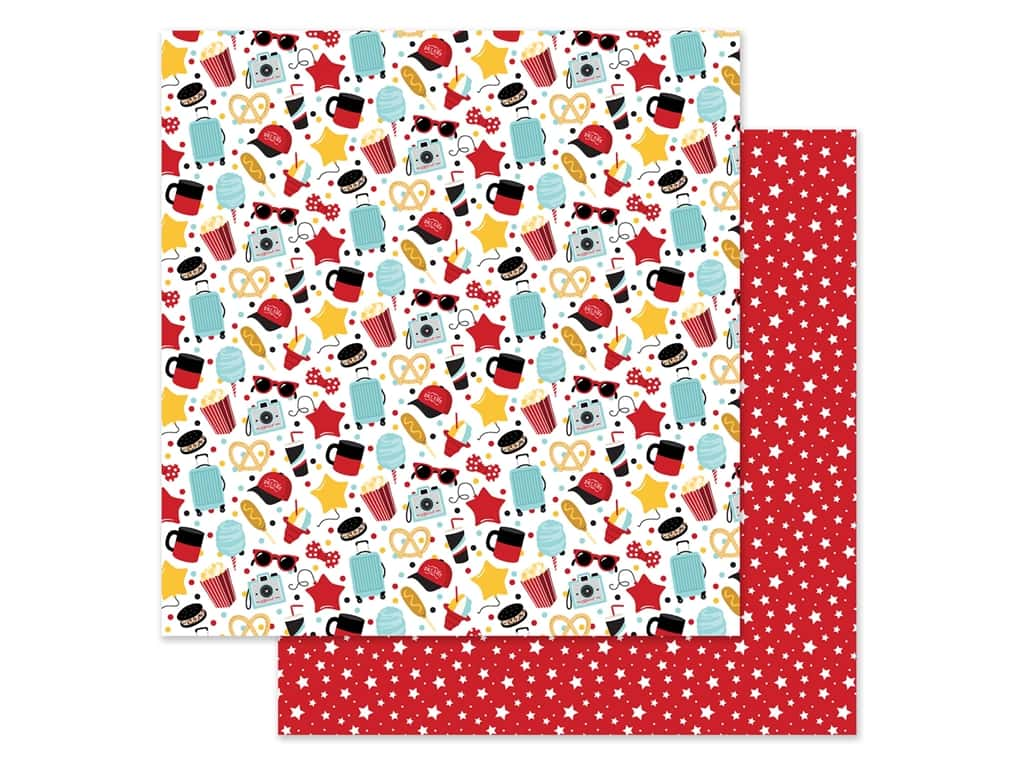 """Echo Park Collection Remember The Magic Paper 12""""x 12"""" Main Street (25 pieces)"""