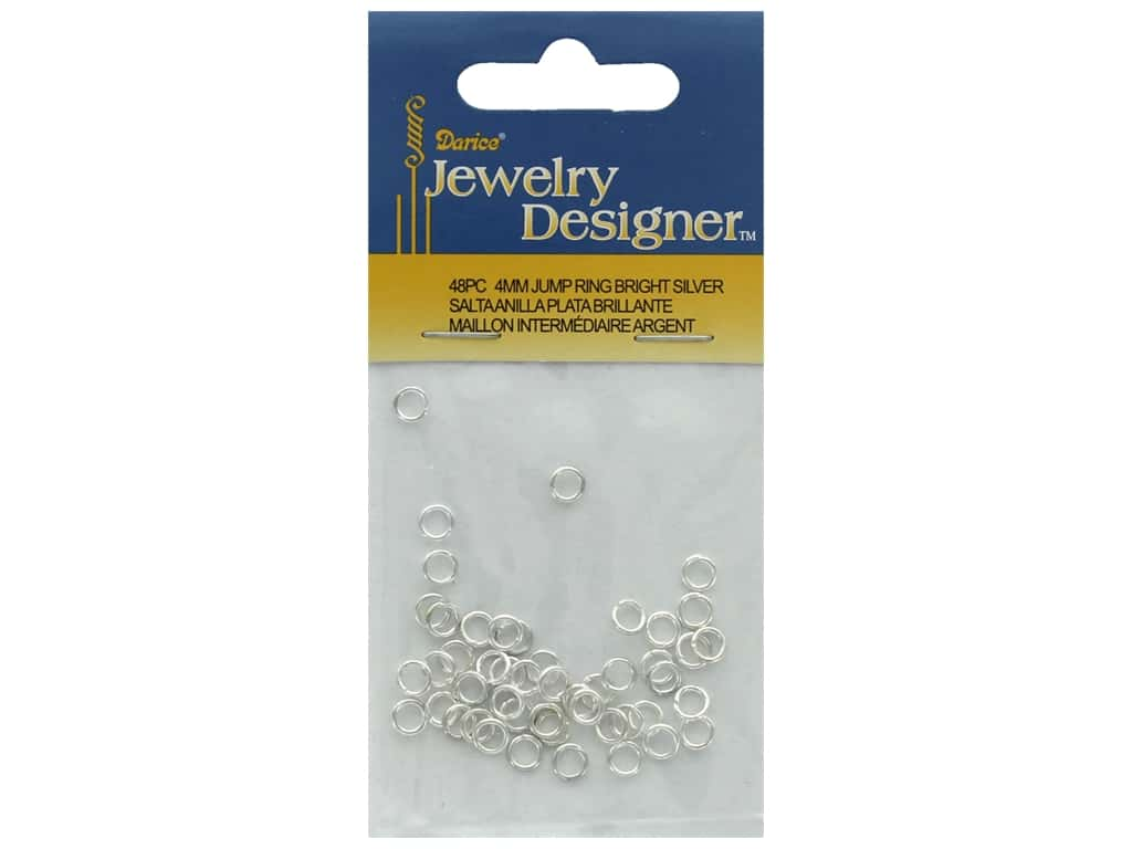 Darice Jump Ring 4mm Bright Silver 48pc