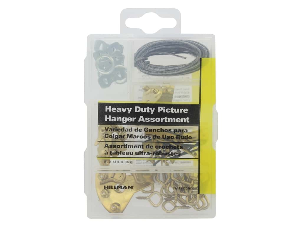 Hillman Heavy Duty Picture Hanger Assortment 0.14lb Small
