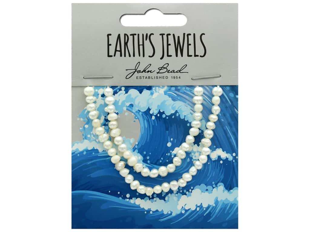 John Bead Freshwater Pearls Potato Shape 2-3mm White