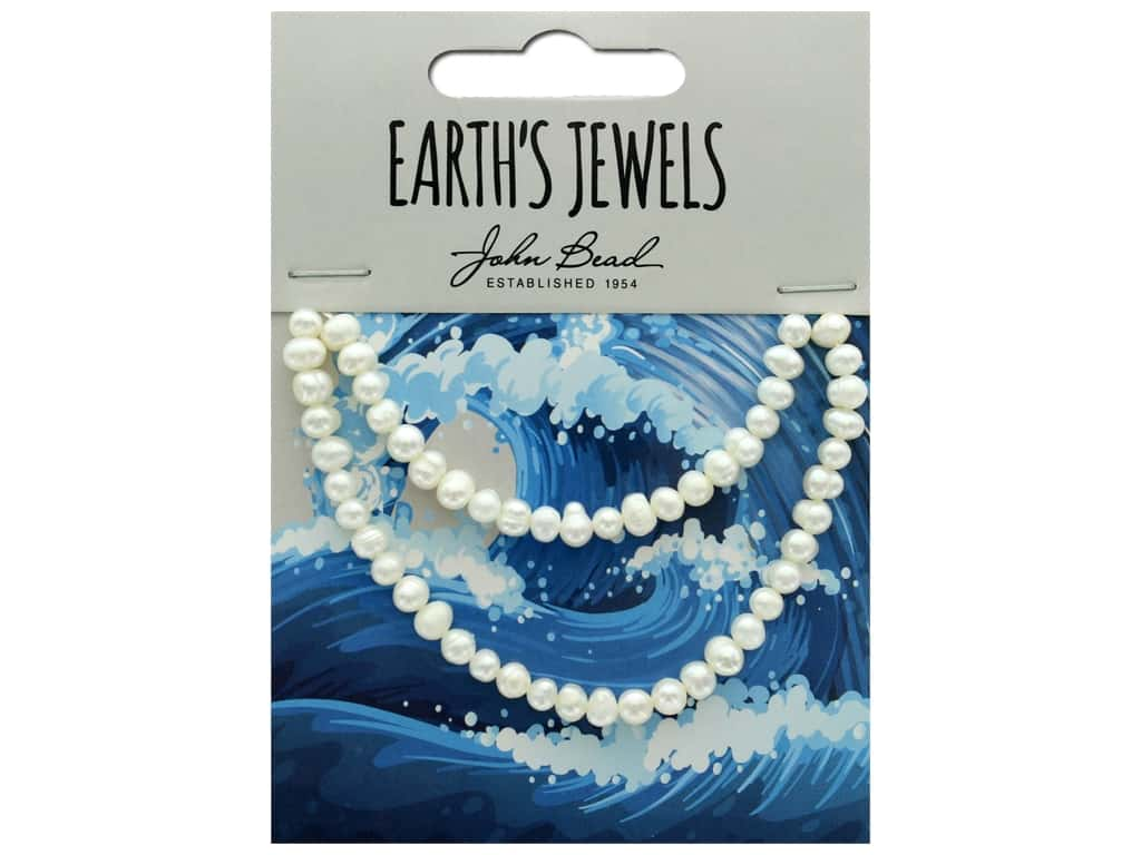 John Bead Freshwater Pearls Semi Round Shape 4-5mm White