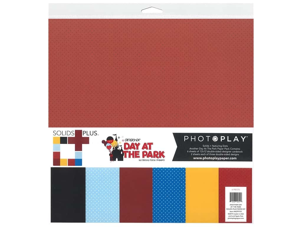 "Photo Play Collection Another Day At The Park Paper Kit 12""x 12"" Solid Plus"
