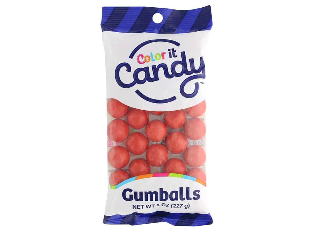 Color it Candy Gumballs - Red 8 oz.