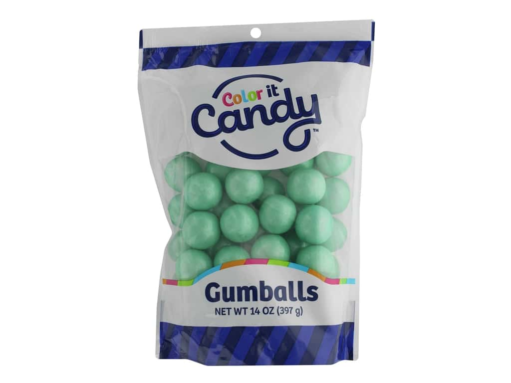 Color It Candy Gumballs Stand Up Bag Shimmer Turquoise 14oz