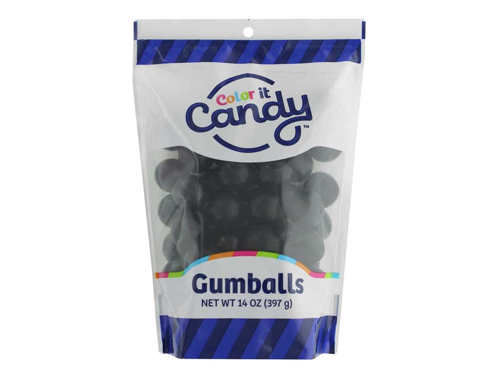 Color It Candy Gumballs 14oz Stand Up Bag Black