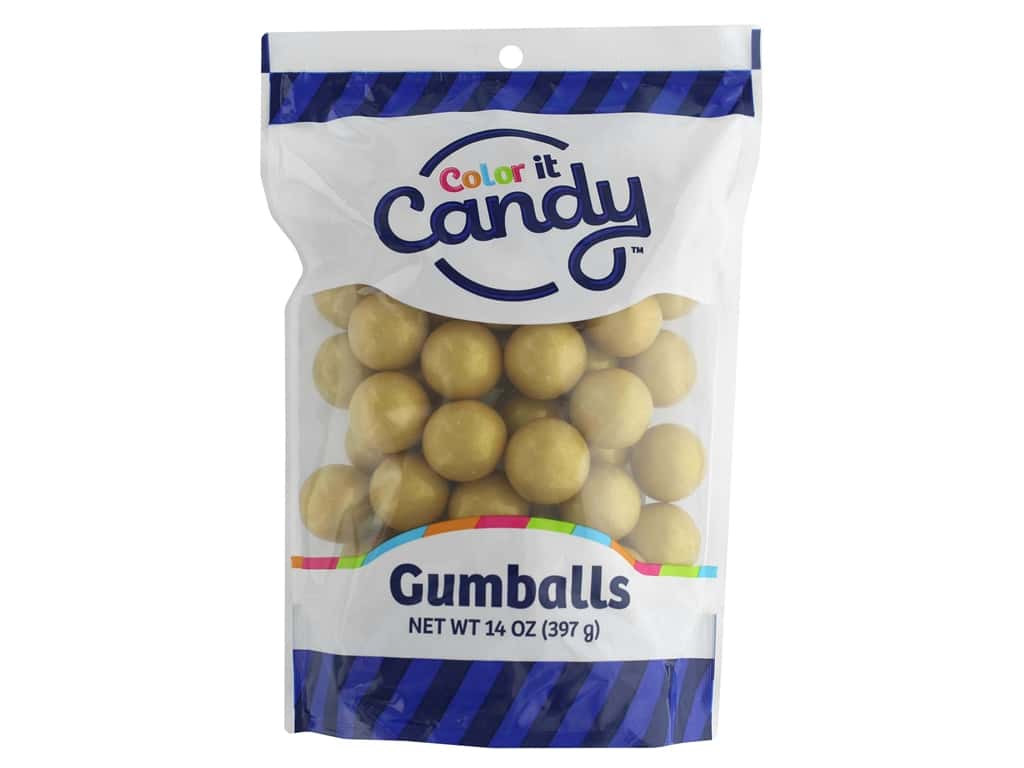 Color it Candy Gumballs - Shimmer Gold 14 oz.