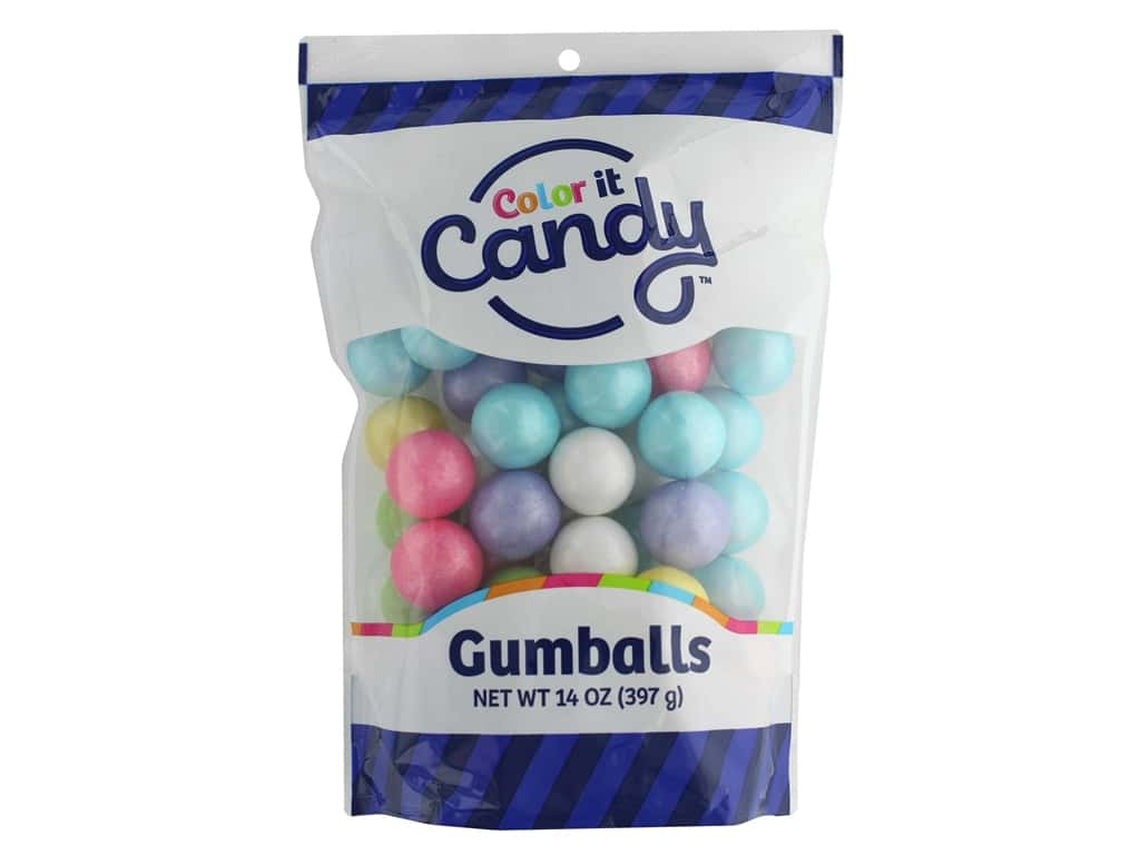 Color It Candy Gumballs 14oz Stand Up Bag Shimmer Spring Mix