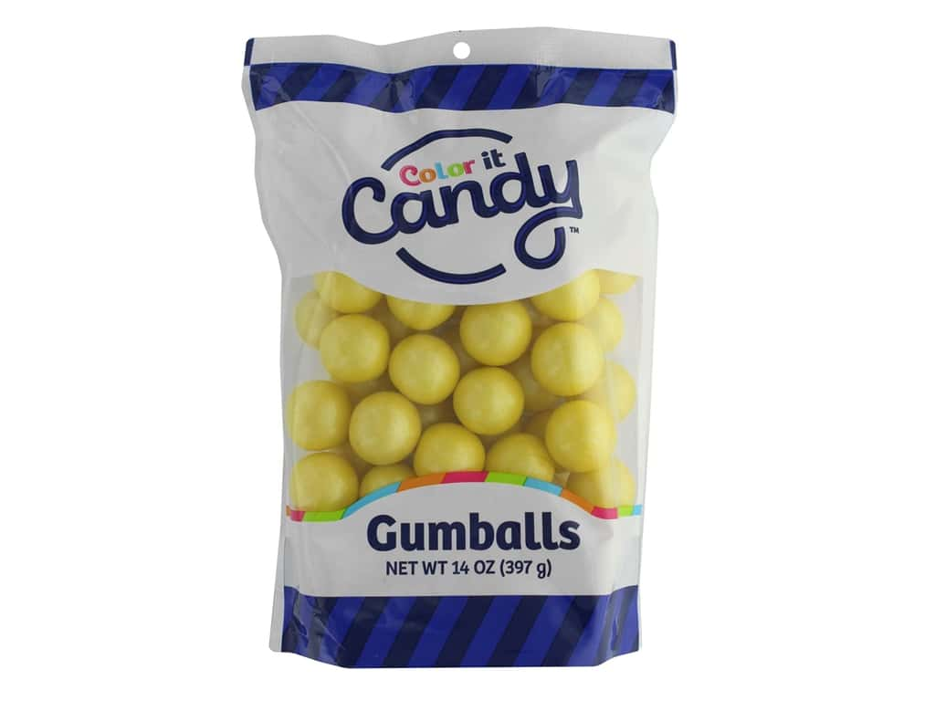 Color it Candy Gumballs - Shimmer Yellow 14 oz.