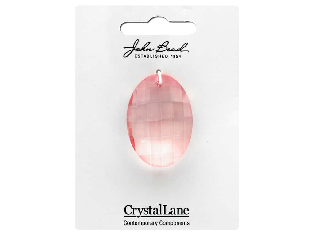 John Bead Crystal Lane Faceted Oval 27x37mm Champagne