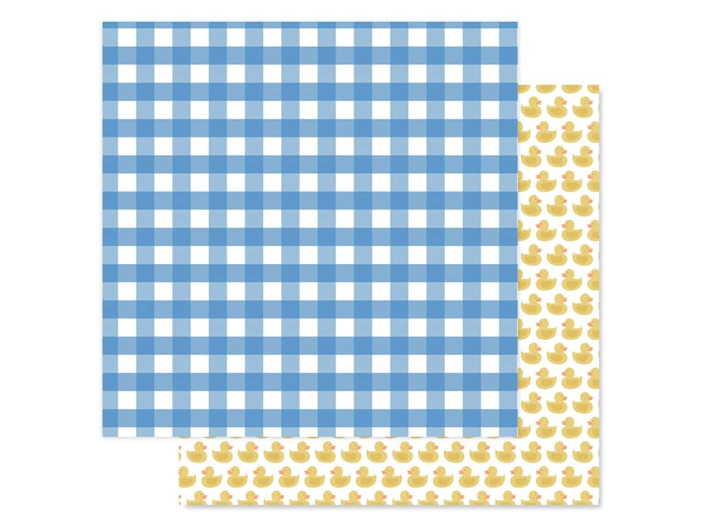 "Echo Park Collection Baby Boy Paper 12""x 12"" Boy Gingham (25 pieces)"