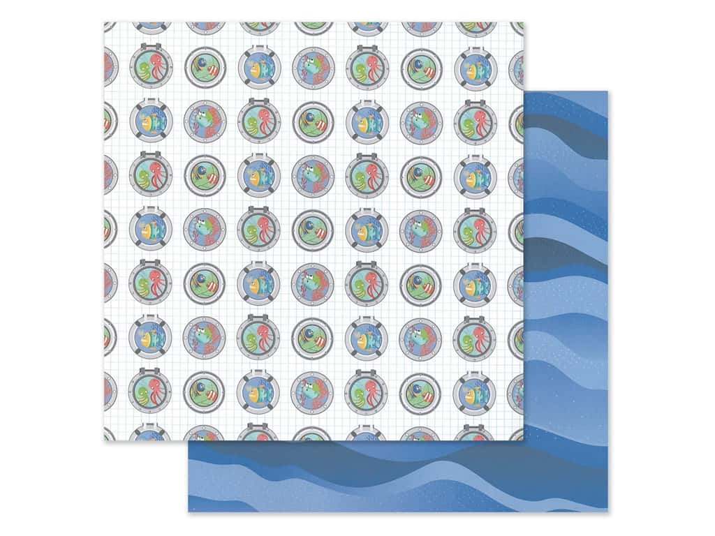 "Photo Play Collection Fish Tales Paper 12""x 12"" Port Holes (25 pieces)"