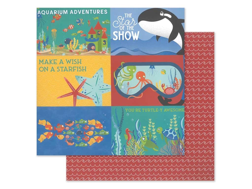 """Photo Play Collection Fish Tales Paper 12""""x 12"""" Showtime (25 pieces)"""