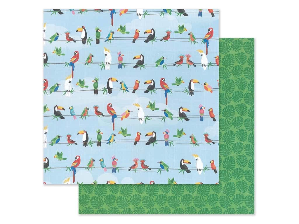 "Photo Play Collection Aloha Paper 12""x 12"" Parrot Bay (25 pieces)"