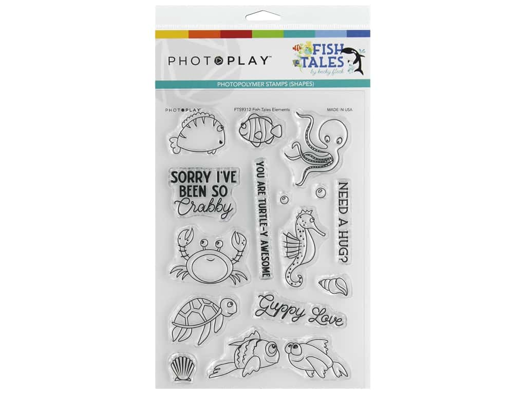 Photo Play Collection Fish Tales Stamp Element