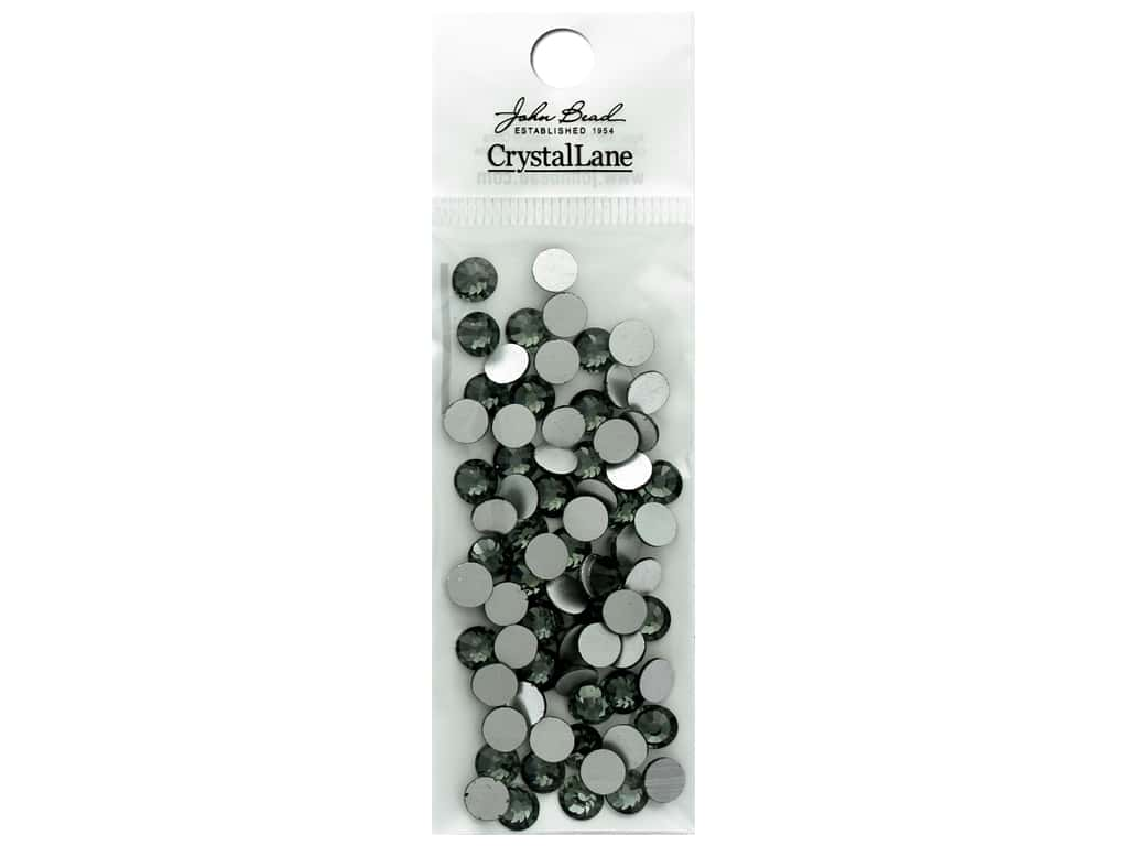 John Bead Crystal Lane Flat Back Rhinestone 6.5mm Diamond Black 72pc