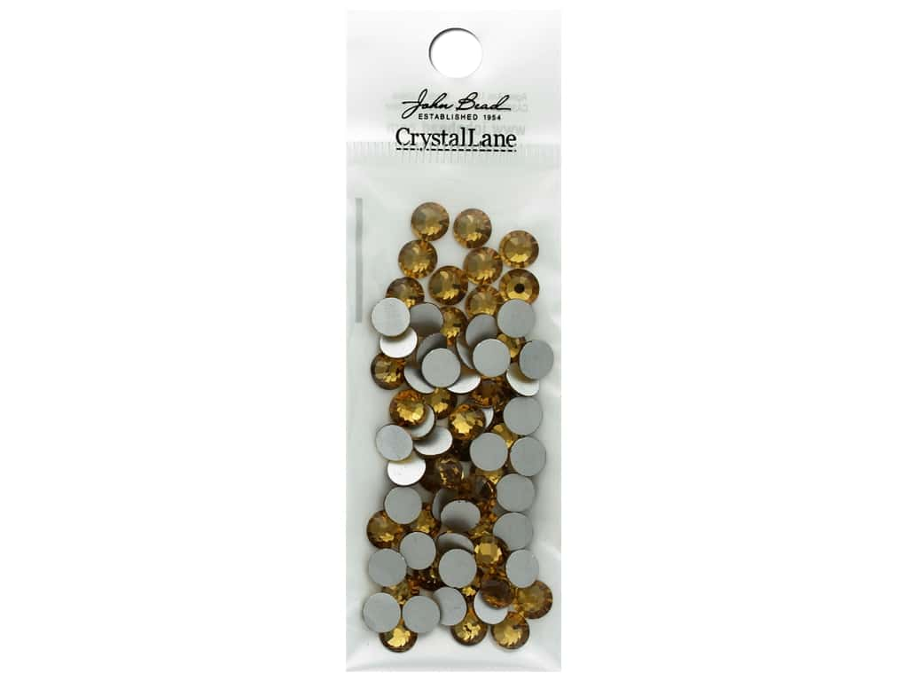 John Bead Crystal Lane Flat Back Rhinestone 6.5mm Light Colorado Topaz 72pc
