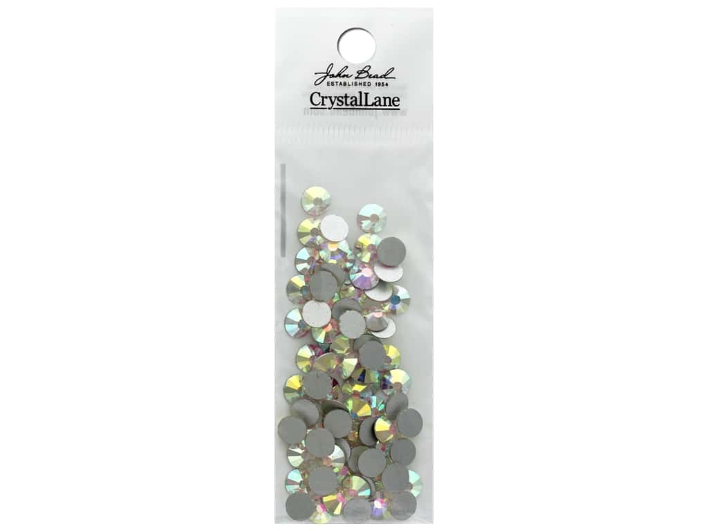 John Bead Crystal Lane Flat Back Rhinestone 6.5mm Crystal Aurora Borealis 72pc
