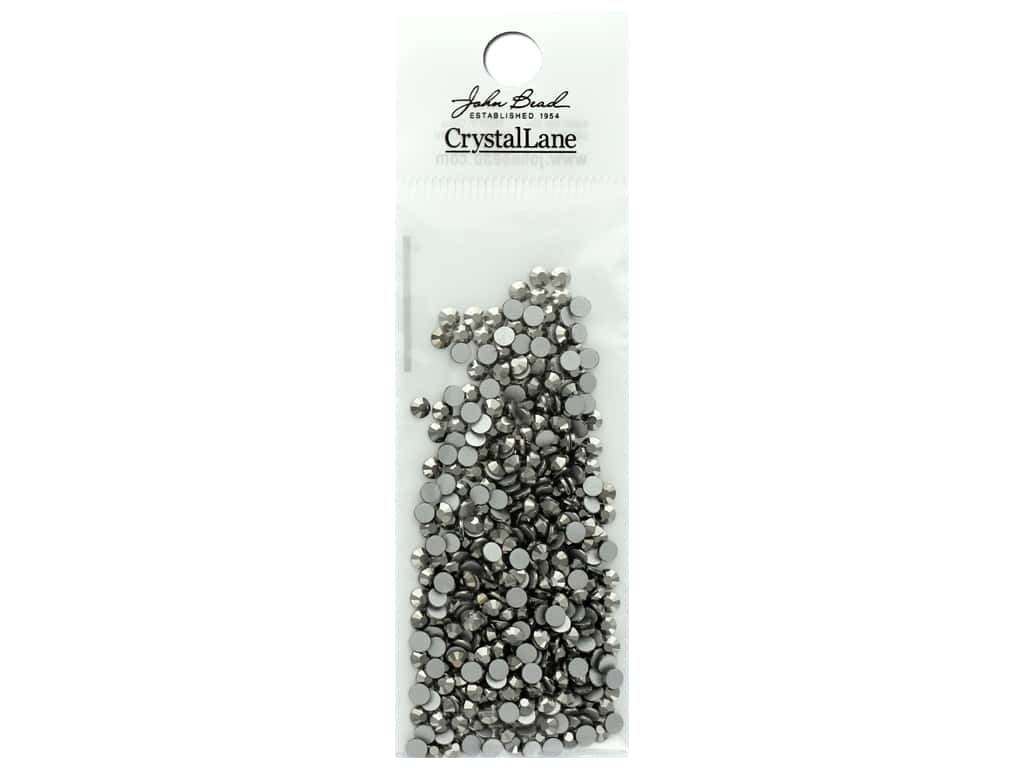 John Bead Crystal Lane Flat Back Rhinestone 3 mm Hematite 432 pc.