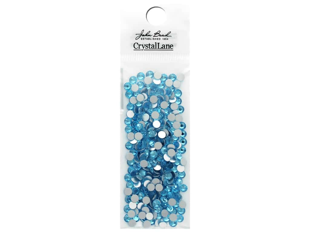John Bead Crystal Lane Flat Back Rhinestone 4 mm Aquamarine 288 pc.