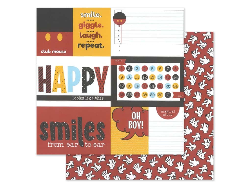 """Photo Play Collection Another Day At The Park Paper 12""""x 12"""" Club Mouse (25 pieces)"""