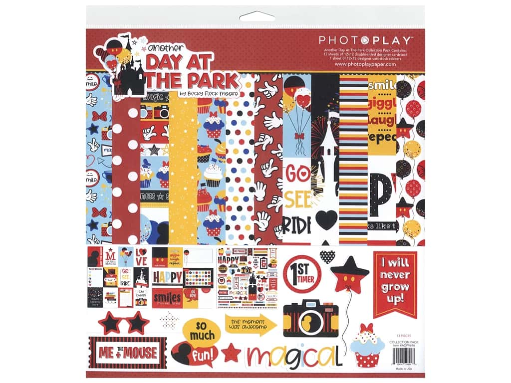 "Photo Play Collection Another Day At The Park Collection Pack 12""x 12"""