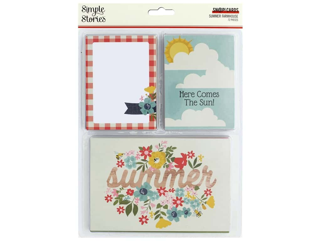 """Simple Stories Collection Summer Farmhouse Snap Cards 3""""x 4"""" & 4""""x 6"""""""