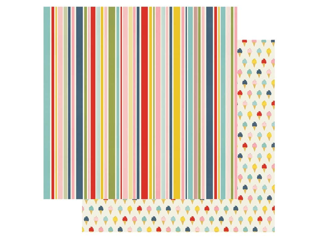 """Simple Stories Collection Summer Farmhouse Paper 12""""x 12"""" Perfect Day (25 pieces)"""
