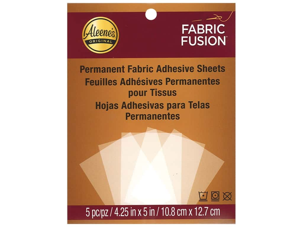 Aleene's Fabric Fusion Peel and Stick Sheets 5 pc.
