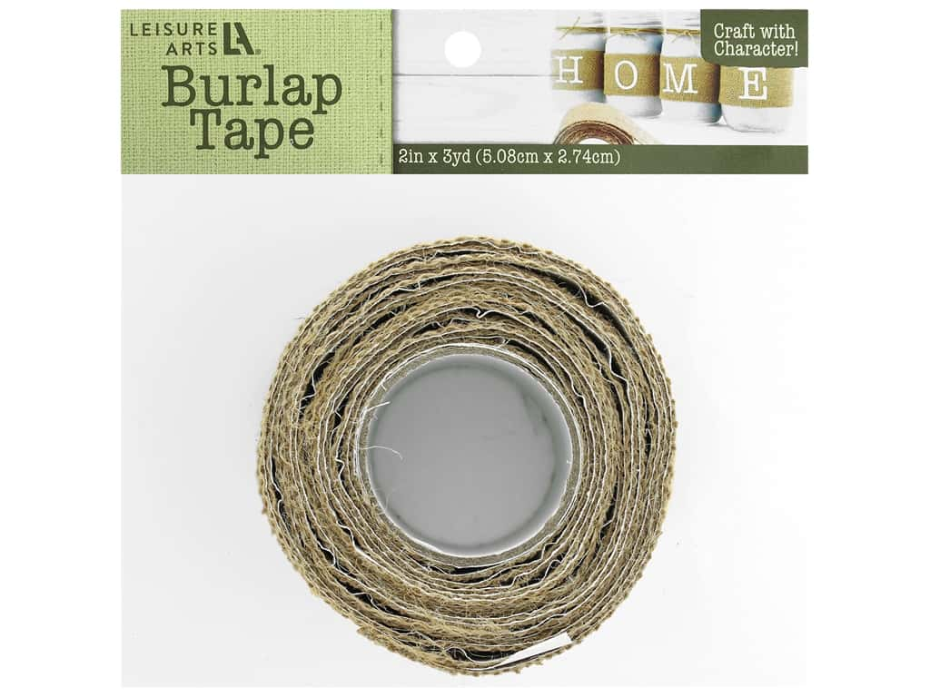 "Leisure Arts Burlap Tape Adhesive 2""x 3yd Natural"