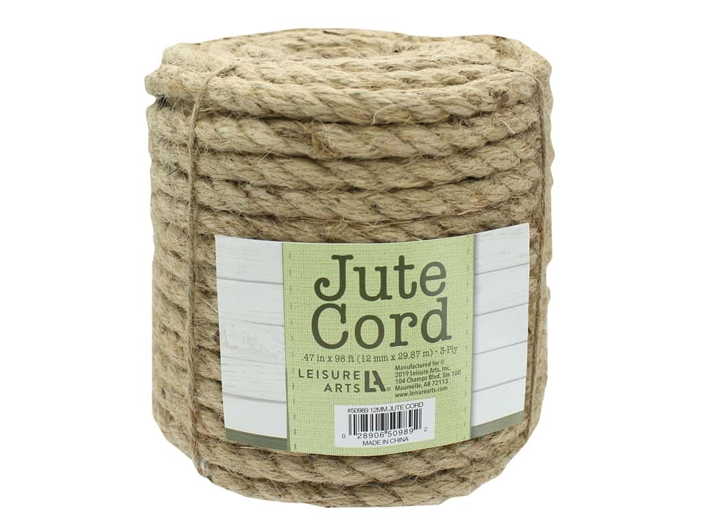 "Leisure Arts Jute Cord .47"" 98ft"