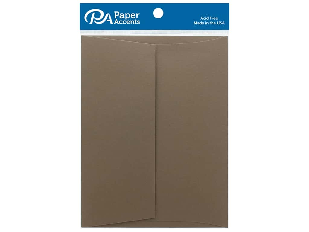 """Paper Accents Envelope 4.38""""x 5.75"""" Heavyweight 80lb Cappuccino 25pc"""