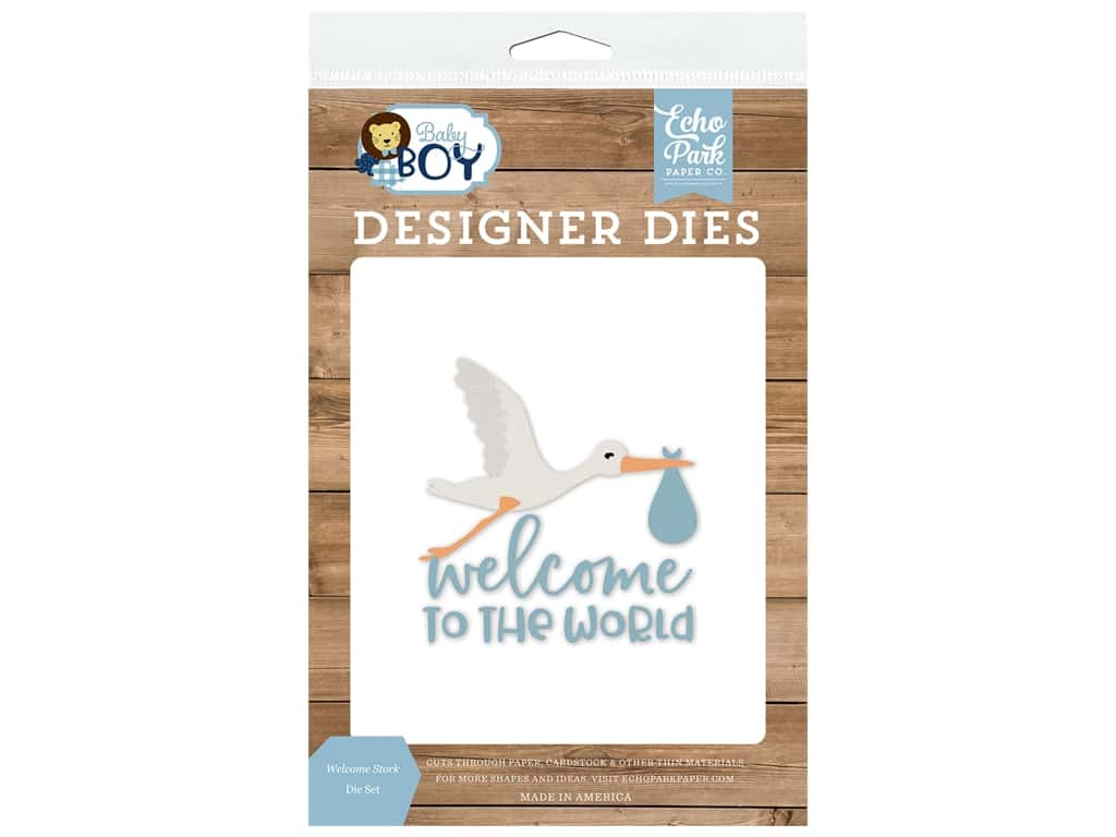 Echo Park Collection Baby Boy Die Set Welcome Stork