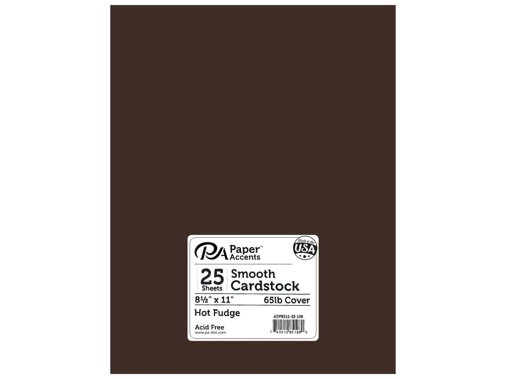 Paper Accents Cardstock 8 1/2 x 11 in. #198 Smooth Hot Fudge 25 pc.