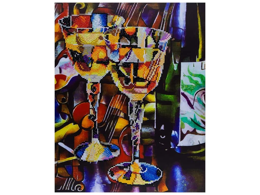 "Diamond Art Kit 14""x 16"" Advanced Abstract Wine"