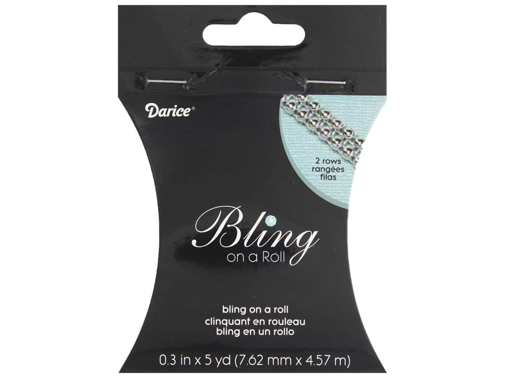 "Darice Ribbon Mesh Bling On A Roll .3"" Silver 5yd"