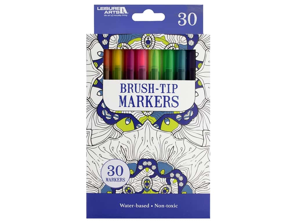 Leisure Arts Brush Tip Markers 30pc