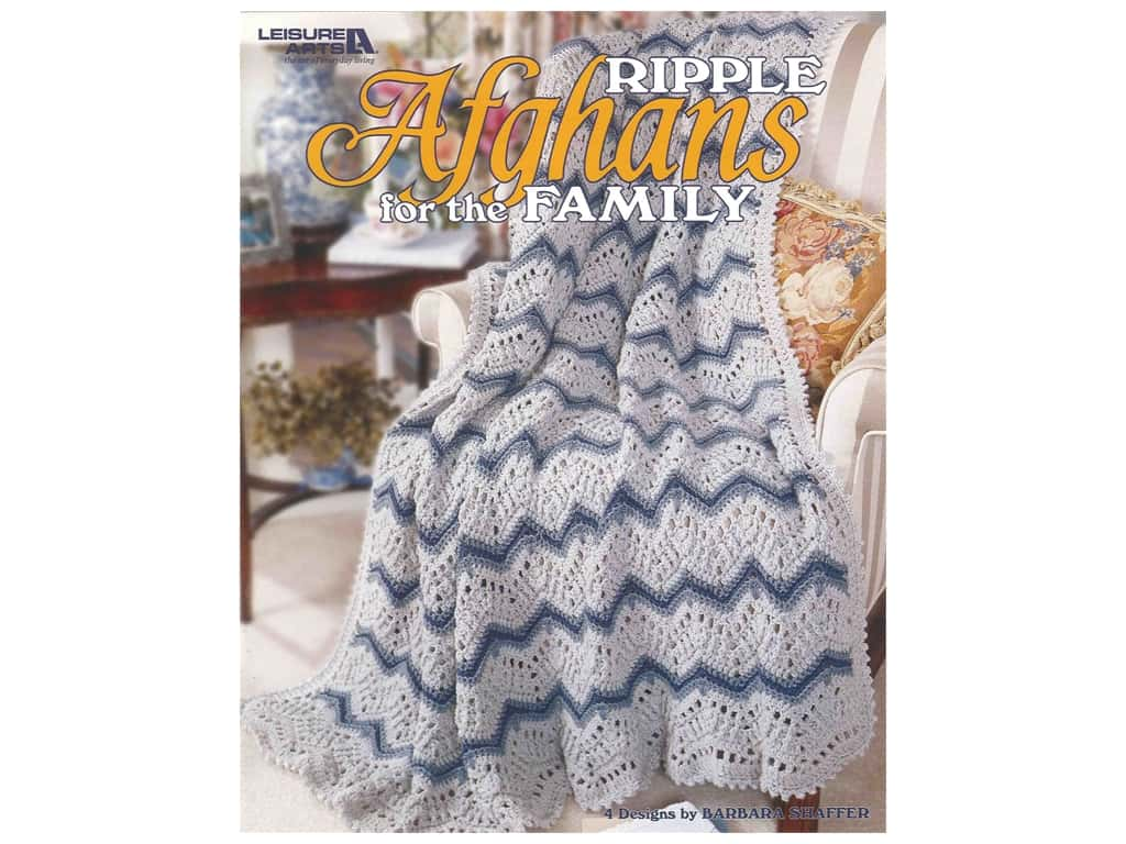 Leisure Arts Ripple Afghans For The Family Crochet Book