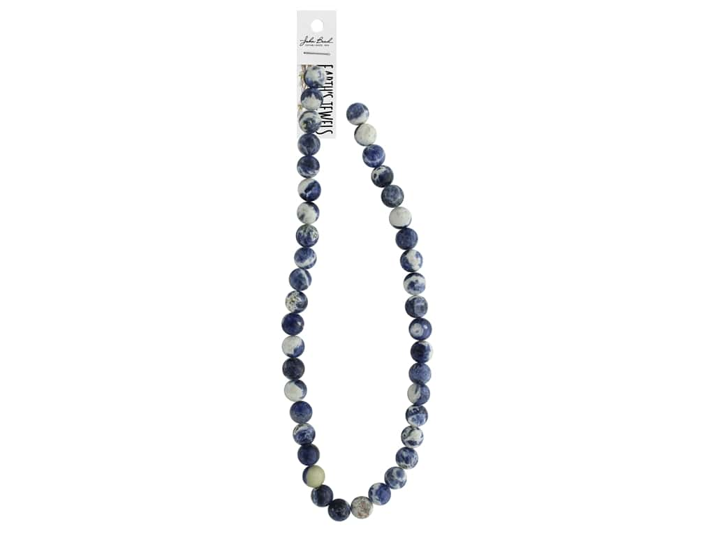 John Bead Semi Precious Bead Earth's Jewels Sodalite 10mm Round 16""