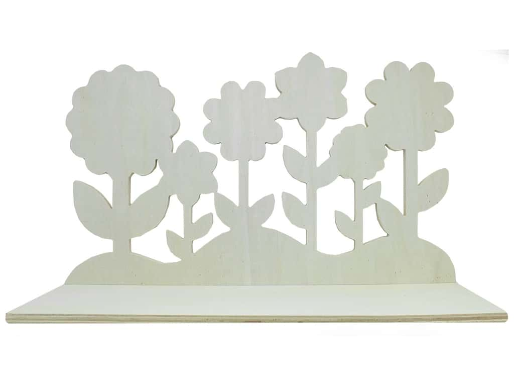 "Darice Wood Shelf 18"" Die Cut Flower"